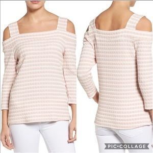 Kut from The Kloth Texture Cold Shoulder Top